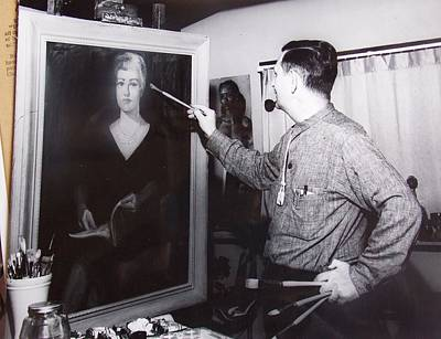 Painting A Portrait Print by Bill Joseph  Markowski