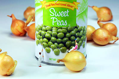 Surreal Photograph - Painting Sweet Peas Poster by Paul Ge