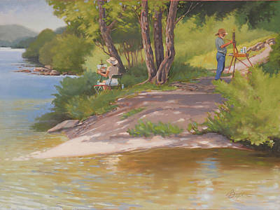 Painting The River Print by Todd Baxter