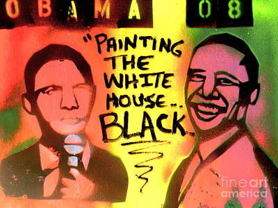 Painting The White House Black Print by Tony B Conscious