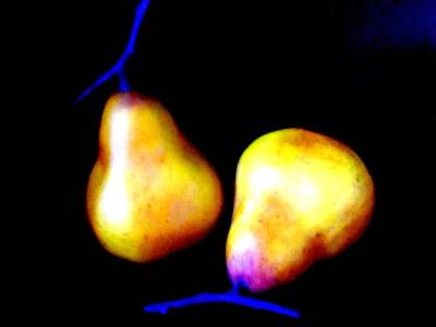 Pear Digital Art - Pair Of Pears Yellow by Randall Weidner