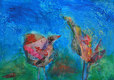Lovebird Mixed Media - Paired For Life by Tonya Schultz