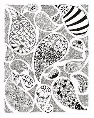 Paisley Drawing - Paisley by Paula Dickerhoff