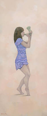 Figurative Painting - Palantines Herald by Steve Mitchell