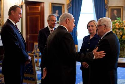 Palestinian-israeli Talks At The White Print by Everett
