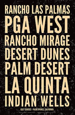 Digital Art - Palm Springs Golf Courses-distressed by Mark Kingsley Brown
