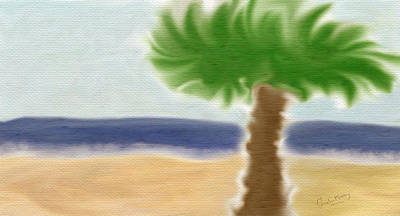 Palm Tree Print by Gina Lee Manley