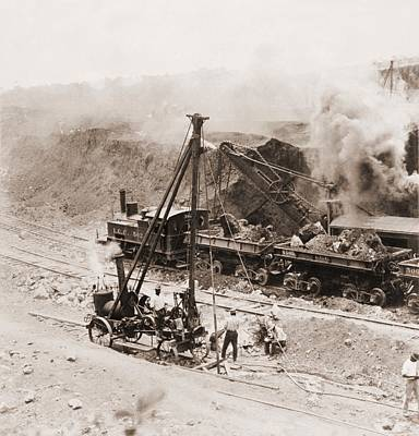 Panama Canal Construction. A Steam Print by Everett