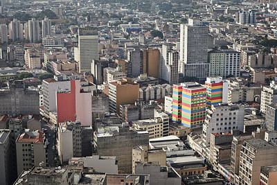Panoramic View Of Sao Paulo Print by Jacobo Zanella