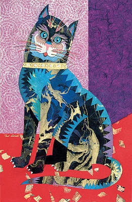 Abstract Realism Painting - Paper Cat by Bob Coonts