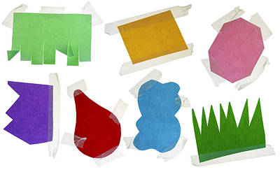 Paper Multi-colored Blank Slices  For Notes Print by Aleksandr Volkov