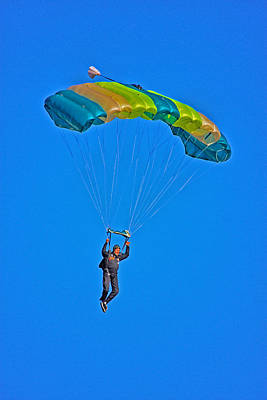 Parachuting Print by Karol Livote