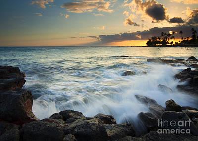 Trees Photograph - Paradise Waves Crashing by Mike  Dawson