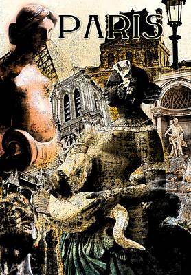 Louvre Digital Art - Paris by Greg Sharpe