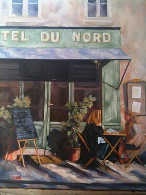 Paris Hotel Du Nord Original by Linda Scott