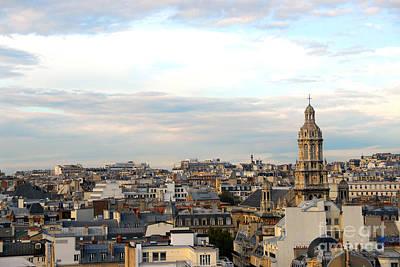 Rooftop Photograph - Paris Rooftops by Elena Elisseeva