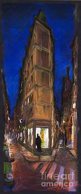 Paris Street 2 Print by Yuriy  Shevchuk