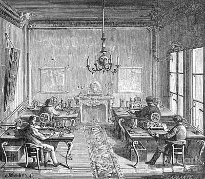 Paris: Telegraph Bureau Print by Granger