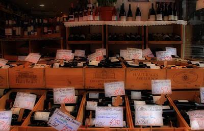 Paris Wine Shop Print by Andrew Fare