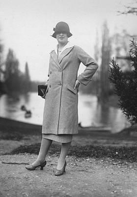 Cloche Hat Photograph - Parisian Coat by Seeberger Freres