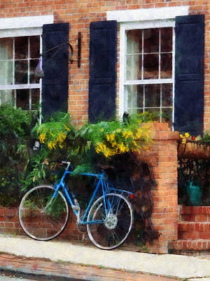Parked Bicycle Print by Susan Savad