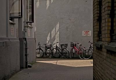 Parking In Rear Print by Odd Jeppesen