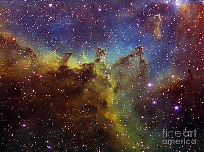 Part Of The Ic1805 Heart Nebula Print by Filipe Alves