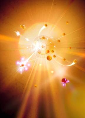 Particle Collision Print by Richard Kail