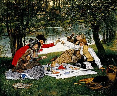 Summer Picnic Painting - Partie Carree by James Jacques Joseph Tissot