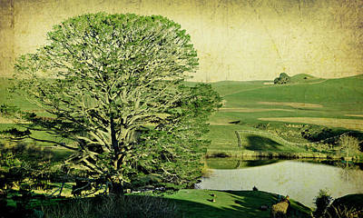 Party Tree Hobbiton Print by Linde Townsend