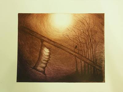 Passage To Pupate II Print by Beth Dennis