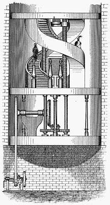 Passenger Elevator, 1876 Print by Granger