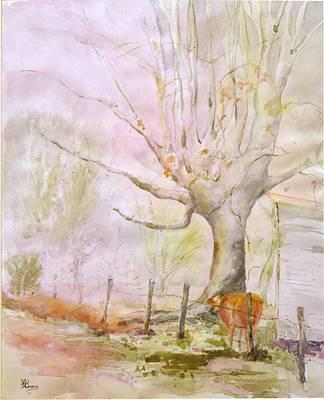 Pasture Scenes Mixed Media - Pastoral Mood by Jean Brown