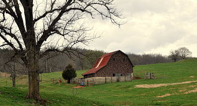 Pasture And Bar  Print by Marty Koch