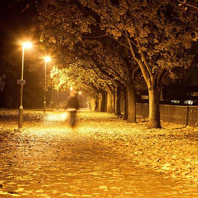 Path At Night Print by Tom Gowanlock