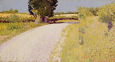 Pointillist Painting - Path In The Country by Charles Angrand