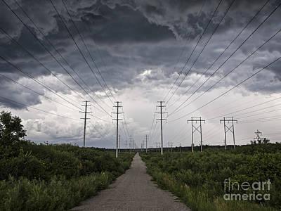 Tornado Drawing - Path Of Doom by Joe Gee