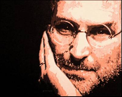 Goan Artists Digital Art - Patience Look Of Steve Jobs by Piety Dsilva