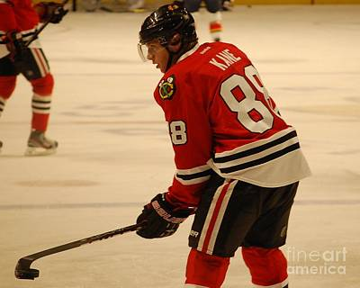 Hockey Drawing - Patrick Kane - Chicago Blackhawks by Melissa Goodrich