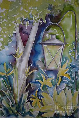 Pause Painting - Pausegarden Lantern by Pat Katz