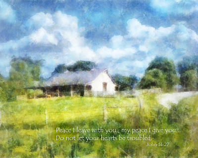 Peace Be With You Print by Francesa Miller