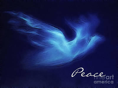 Dove Digital Art - Peace Fractal by Methune Hively