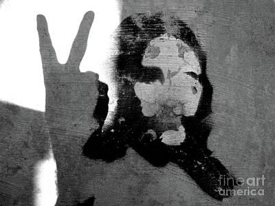 Self-portrait Photograph - Peace Man Peace by Joe Jake Pratt