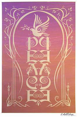 Art Nouveau Mixed Media - Peace Reflectograph by Cristina McAllister