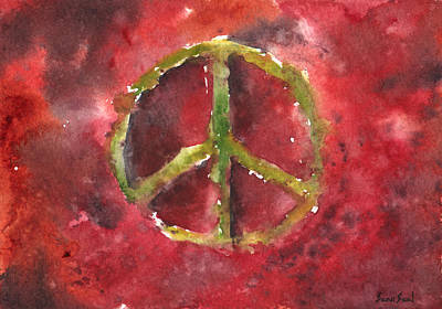 Peace Sign 61-12 Print by Sean Seal