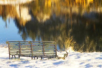 Bench Photograph - Peaceful And Calm by James BO  Insogna