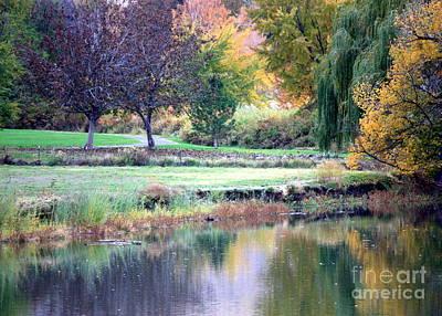 Of Autumn Photograph - Peaceful Autumn Park by Carol Groenen