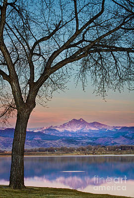 Peaceful Early Morning Sunrise Longs Peak View Print by James BO  Insogna