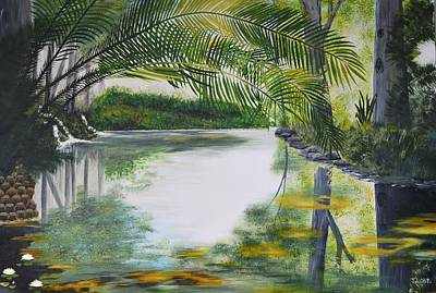 Peaceful Pond Original by Tessa Dutoit