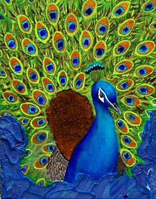Peacock's Delight Print by The Art With A Heart By Charlotte Phillips